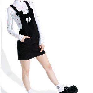 Lazy Oaf Dresses & Skirts - Lazy oaf bow tie eyeball pinafore