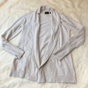 kersh Sweaters - Kersh oatmeal colored open cardigan