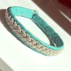 Jewelry - Lapland Sami Braided Leather & Pewter Bracelet