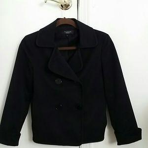 Talbots Collection Black Taffeta Jacket Size 6.
