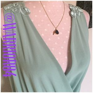 Charlotte Russe Dresses & Skirts - Sea Green High Low Dress with Back Lace Design