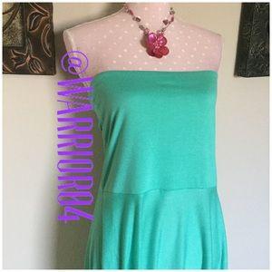 LAGACI Dresses & Skirts - LaGaci Aqua strapless dress Size XL