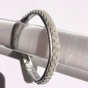 Jewelry - Lapland Sami Braided Pewter & Leather Bracelet