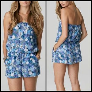 C&C California Pants - C & C California 🦋 Floral Strapless Romper NWT