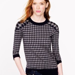J. Crew Merino Tippi sweater in Houndstooth small