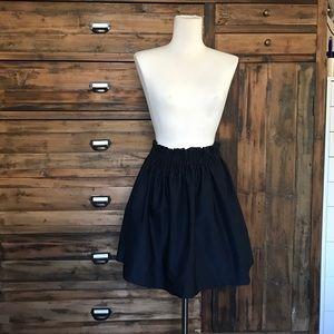 Zara Woman Navy Skater Skirt - NWT