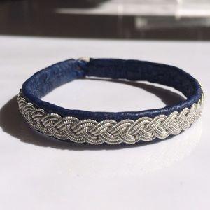 Jewelry - Lapland Sami Leather & Pewter Braided Bracelet