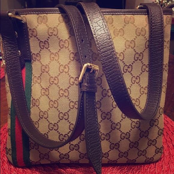 54ae74ba7839 Gucci Bags | Monogram Web Jolicoeur Charm Messenger Bag | Poshmark