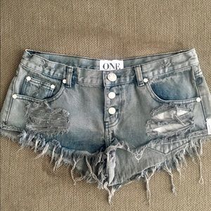 One teaspoon trash whores shorts sz 28