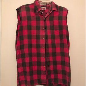 Arrow Other - Vintage Men's Cutoff Plaid Shirt