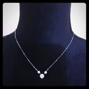 Jewelry - ‼️Sterling silver necklace w/CZ‼️