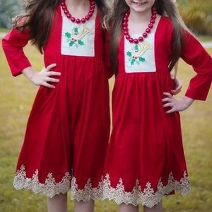 """NOLA Smocked Other - SALE🎄""""Golden Lace"""" embroidered horn pinafore dres"""