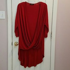 Tops - NWOT Rust Shirt with long dip