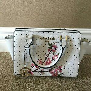 Nicole Lee Handbags - Nicole Lee Cherry Blossom Polka Dot Bag