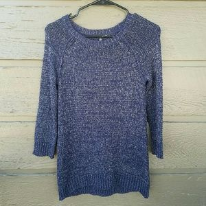 Cable & Gauge Sweaters - Cable and Gauge Blue and Silver Sweater