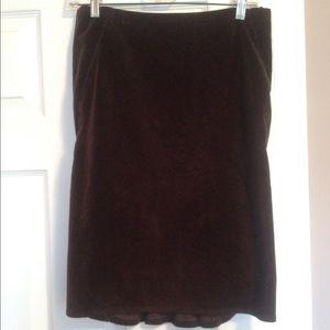 Sisley Dresses & Skirts - Sisley Brown Corduroy Ruffle Pencil Skirt
