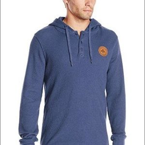 Lrg Other - LRG Thermal Henley button hooded sweatshirt