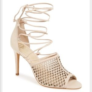 Vince Camuto Shoes - VINCE CAMUTO DIAMOND CUT LACE UP HEEL Vasha 6.5