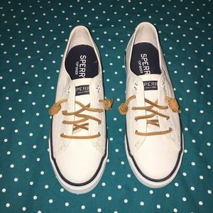 Sperry Top-Sider Shoes - White Sperrys - Size 6