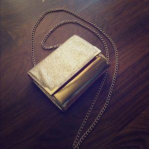 Handbags - Gold sparkly handbag