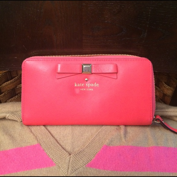 52714ade8e88 kate spade Handbags - Kate spade shocking pink leather zippy wallet