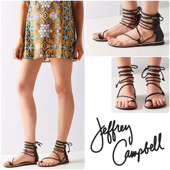 510107b5fb7 Jeffrey Campbell Shoes - Jeffrey Campbell Adios Lace-Up Leather Sandal