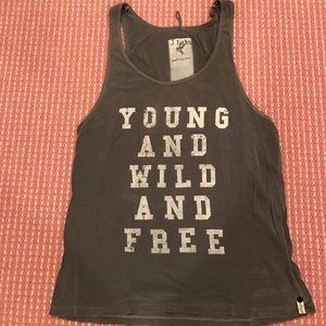 One teaspoon grey tank young wild and free
