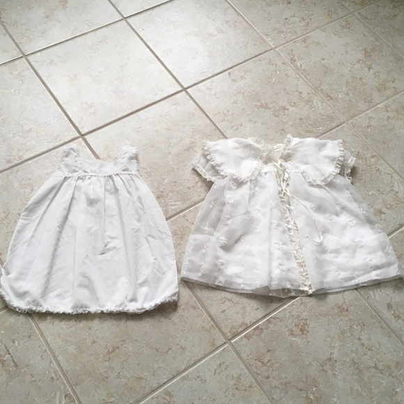 b28bd12c3 Madonna by Haddad Other - 2 Vintage White Christening Outfits & Sweater Set