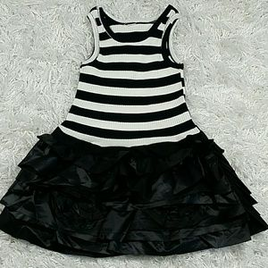 Other - Black and White Striped Tiered dress.  Kids