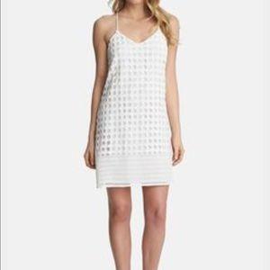 1. State Dresses & Skirts - 1. State lace racerback shift dress. white. XS.