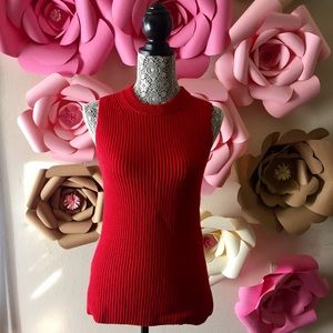 J crew Sweaters - J. Crew women's Red sleeveless tunic sweater