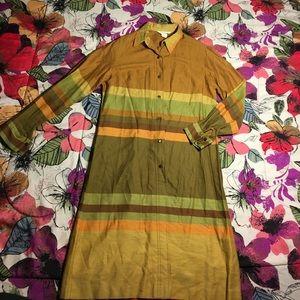 alex colman Dresses & Skirts - Vintage Alex Colman Dress x Long Button Down Shirt