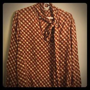 Saint Laurent Tops - SALE! Vintage Saint Laurent Tie Neck Silk Blouse