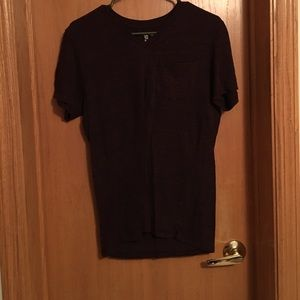 on the byas Other - Wine colored V-neck shirt