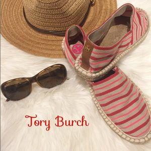 Tory Burch Striped Espadrilles. Price firm.