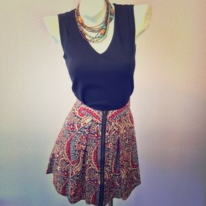Staring at Stars Dresses & Skirts - Staring at Stars skirt paisley zipper front Large