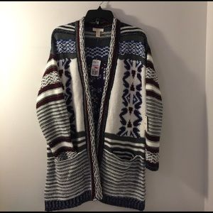 Forever 21 Sweaters - Ribbed Tribal Cardigan
