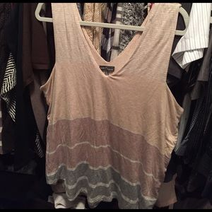 Market and spruce striped heavy weight top