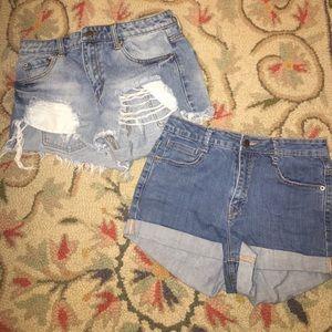 F21 High Waisted Shorts Bundle