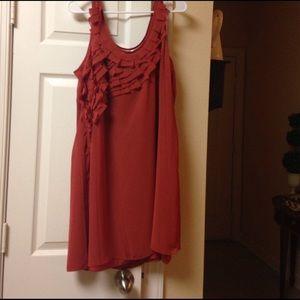 LC Lauren Conrad sleeveless ruffle top dress