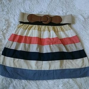 Maurices Stripped Skirt  multi colors size M