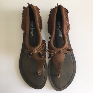 Minnetonka Fringe Sandals