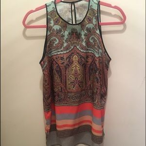 Clover Canyon printed sleeveless blouse size S