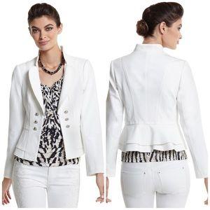 NWT WHBM White Button Ruffle Jacket