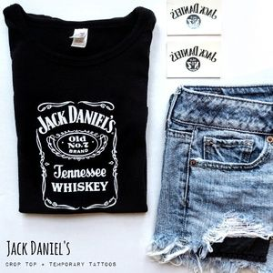 Tops - 🥃 Jack Daniel's crop top 🎉HP