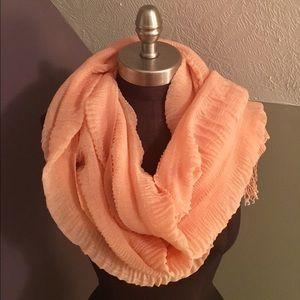Accessories - 💰$5 SALE❗️Orange Peach Fringe Fashion Scarf
