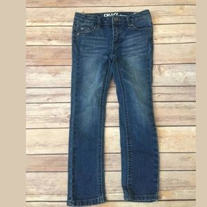 Girls dkny hipster skinny slim jeans Sz 4