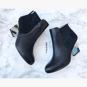 United Nude Calf Hair Mirror Heel Booties