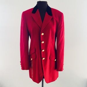 Bloomingdale's Jackets & Blazers - ❗️Bloomingdales HMC Red Wool Blazer MSRP $495