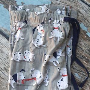 Disney Dalmations Pajama Bottoms NWOT